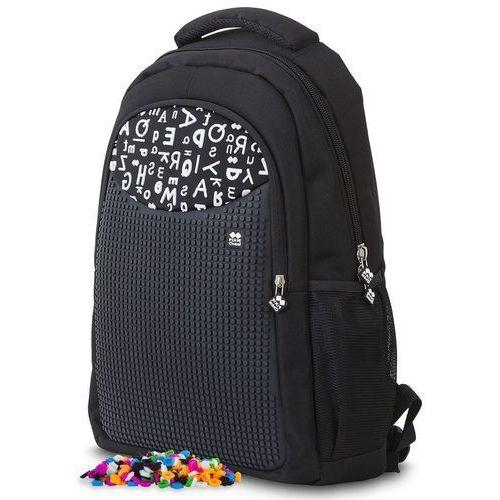 plecak szkolny, czarny w litery marki Pixie crew
