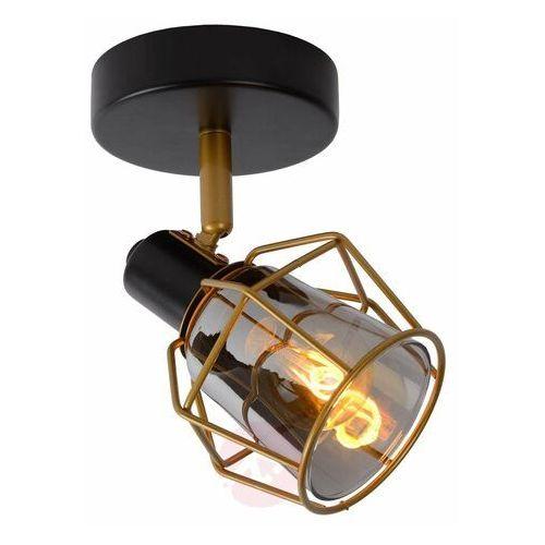 nila 77977/01/30 plafon lampa sufitowa 1x25w e14 czarny/szary marki Lucide