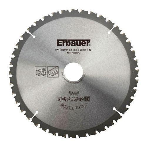Tarcza uniwersalna Erbauer 216 x 30/25/20/16 mm 40T, SCT63040