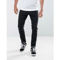 LDN DNM Skinny Jeans in Washed Black - Black, jeansy