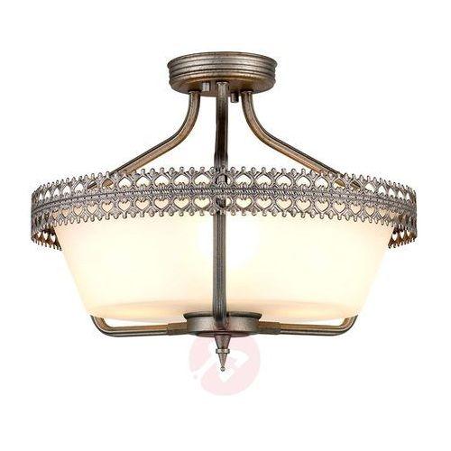 LAMPA sufitowa CROWN/SF Elstead rustykalna OPRAWA ampla żelazo biała