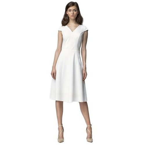 Sukienka MIDI - ecru - S60, kolor beżowy