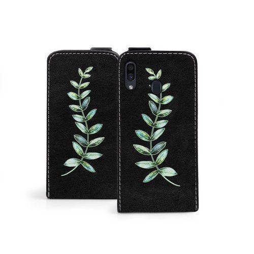 Samsung Galaxy A30 - etui na telefon Flip Fantastic - zielona gałązka