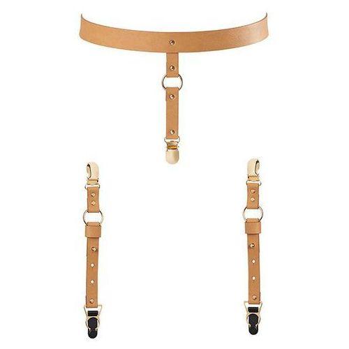 Pas na talię i paski do podwiązek - maze suspender belt brown marki Bijoux indiscrets