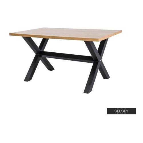 SELSEY Stół Holeby 180x90 cm z poziomym wzmocnieniem podstawy