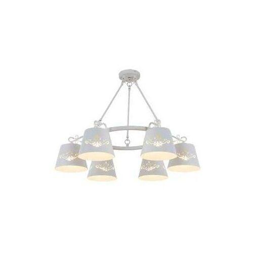 Lampa wisząca Rabalux Anna 2235 6x40W E14 biała, 2235