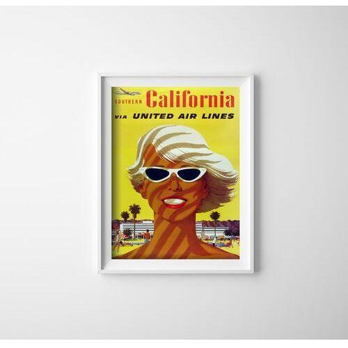 Vintageposteria.pl Plakat w stylu retro plakat w stylu retro linie lotnicze california united air stan galli