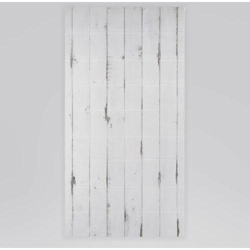 Roleta rzymska okienna na wymiar - WHITE HORIZONTAL WOODEN BOARDS