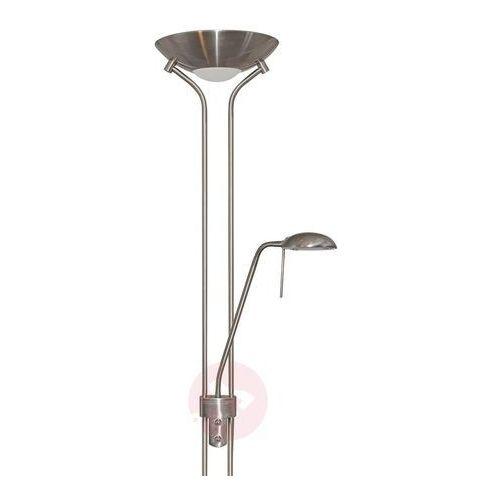 JERIK - lampa stojąca, srebrna satynowana