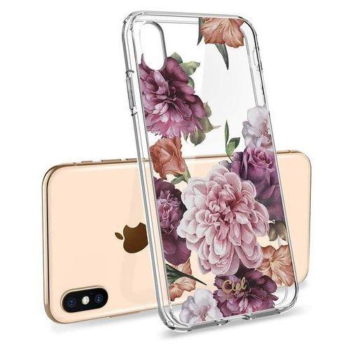 Spigen ciel iphone xs max rose floral - różowy (8809613767452)
