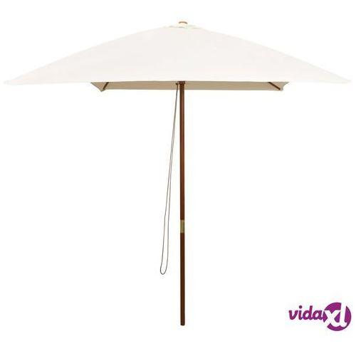vidaXL Parasol ogrodowy, 200x300 cm, drewniany, kremowy