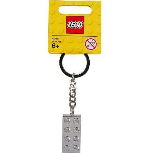 851406 BRELOCZEK ZE SREBRNYM KLOCKIEM (Silver 2x4 Stud Keychain) - LEGO®, 851406