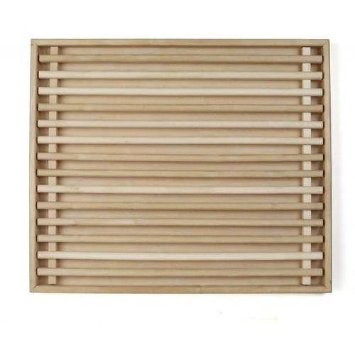 Deska drewniana do krojenia z wyjmowanym wkładem, wymiary 58x49x3,5 cm, EXXENT 78524
