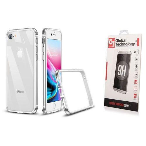 Zestaw | etui crown silver + szkło perfect glass - iphone 7 / 8 marki Esr