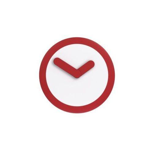 Nextime:: Zegar Ścienny Focus czerwony Ø25cm - czerwony ||biały