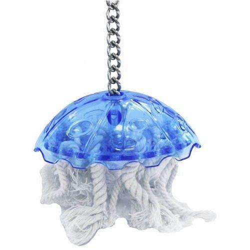 Mała meduza - zabawka dla mniejszych ptaków