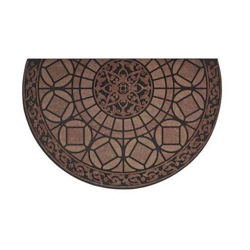 Inspire Wycieraczka zewnętrzna lucerna 85 x 58.5 cm gumowa brązowa