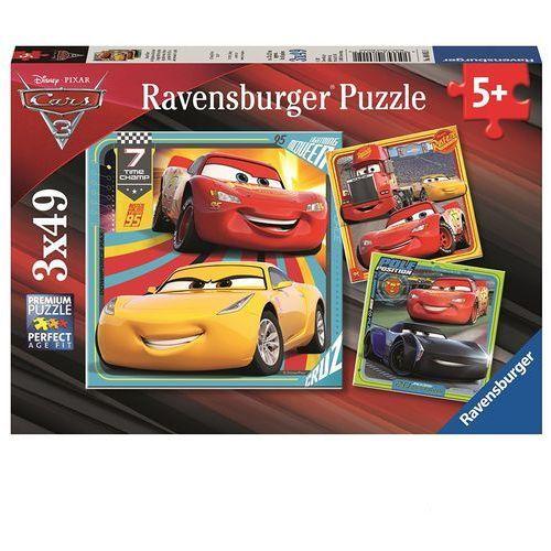 Puzzle auta 3, 3x49el marki Tm toys