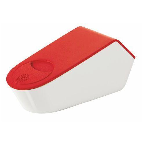 Tarka do parmezanu z pojemnikiem Guzzini Grate&Store czerwona