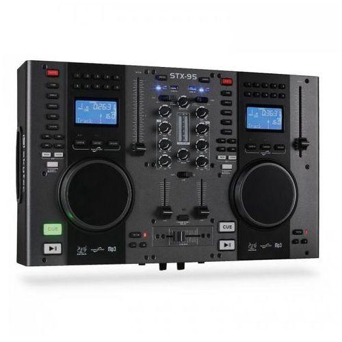 kontroler Skytec STX-95 DJ podwójny CD USB-MP3