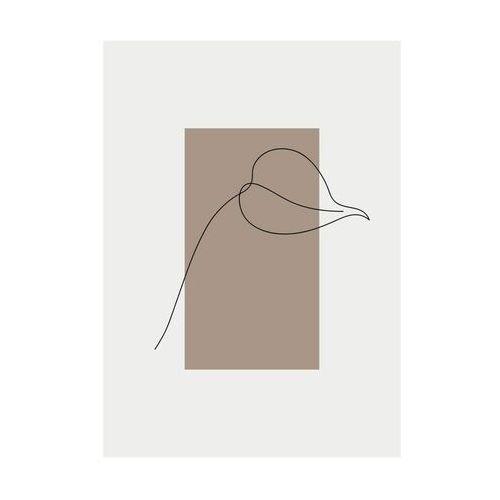 Kanwa Liść na bordowym tle 50 x 70 cm (5901554537583)