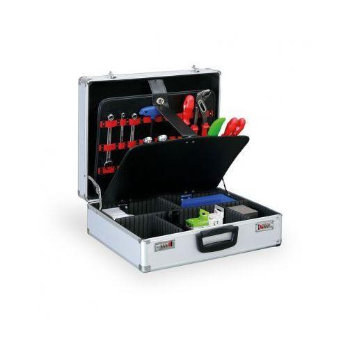 Walizka na narzędzia z wewnętrzymi wkładkami i zamkiem szyfrowym