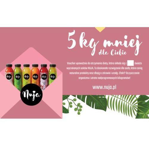 Karta podarunkowa 5 kg mniej / dieta sokowa / detoks sokowy marki Nuja