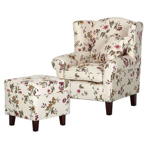 Scandinavian style design West fotel tapicerowany z pufą