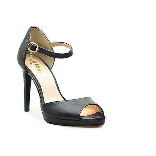 Sandały Eksbut 36-4114-155-1G Czarne Lico, kolor czarny
