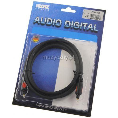 Klotz fo h tt02 2m toslink/toslink kabel