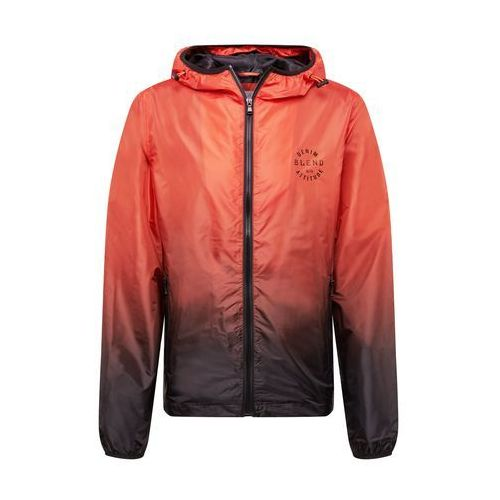 BLEND Kurtka przejściowa 'Outerwear' niebieski / pomarańczowo-czerwony, kolor niebieski
