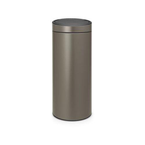 Brabantia - Kosz Touch Bin - 30 l - plastikowe wiaderko - platynowy - platynowy, kolor srebrny