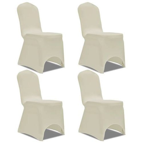 Elastyczne pokrowce na krzesło kremowe 4 szt. marki Vidaxl