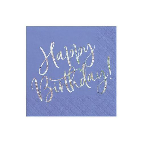 Party deco Serwetki urodzinowe granatowe happy birthday - 33 cm - 20 szt. (5900779112001)
