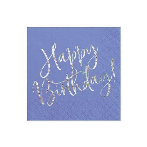 Party deco Serwetki urodzinowe granatowe happy birthday - 33 cm - 20 szt.