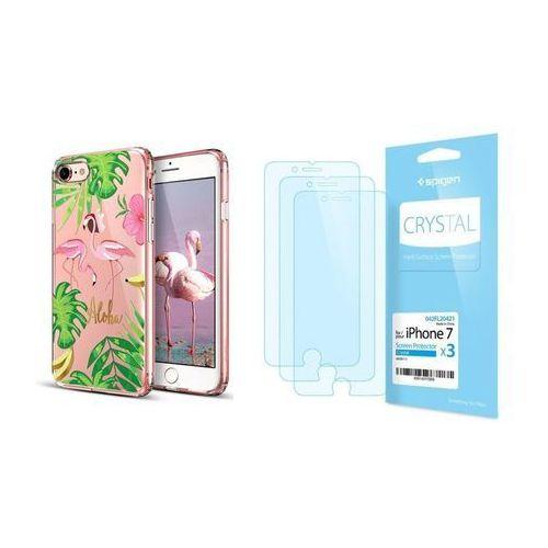 Zestaw | etui art case flamingo + folia spigen crystal film - iphone 7 / 8 marki Esr