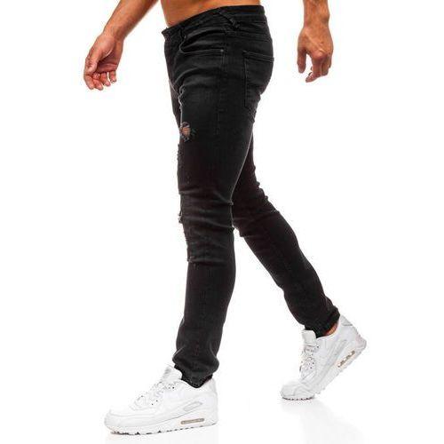 Spodnie jeansowe męskie czarne Denley 8007