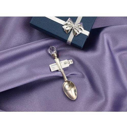 - Łyżeczka z kryształkiem pamiątka chrztu świętego - wzór srb024