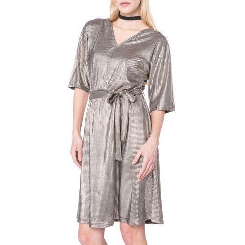 Vero Moda Cassie Sukienka Złoty XS (5713239490270)