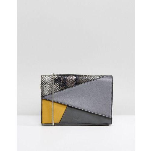 Nali mustard patchwork envelope clutch bag - yellow