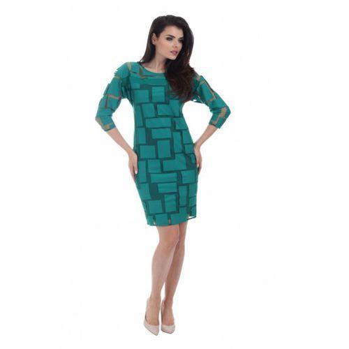 Sukienka wizytowa model 868 green, Margo collection