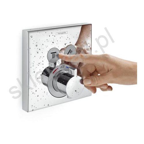 showerselect bateria termostatyczna podtynkowa, dla 2 odbiorników, element zewnętrzny, kolor chrom 15763000 marki Hansgrohe