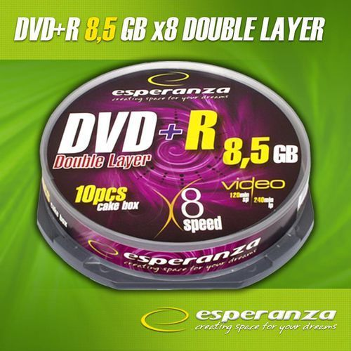 Esperanza Dvd+r 8.5gb x8 double layer cake 10
