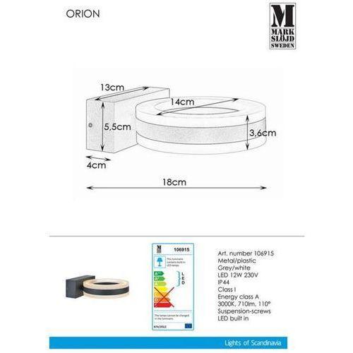 Markslojd Lampa ścienna orion wall dark 106915 - sprawdź mega rabaty w koszyku! (7330024568396)