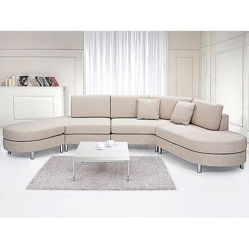 Beliani Sofa tapicerowana - kanapa z 100% poliestru beżowa - copenhagen