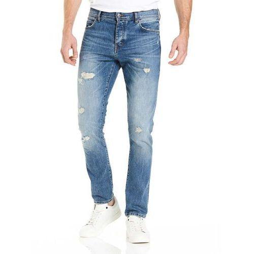 spodnie BENCH - Tapered Mid Vintage Blue Mid Vintage (DW1028)