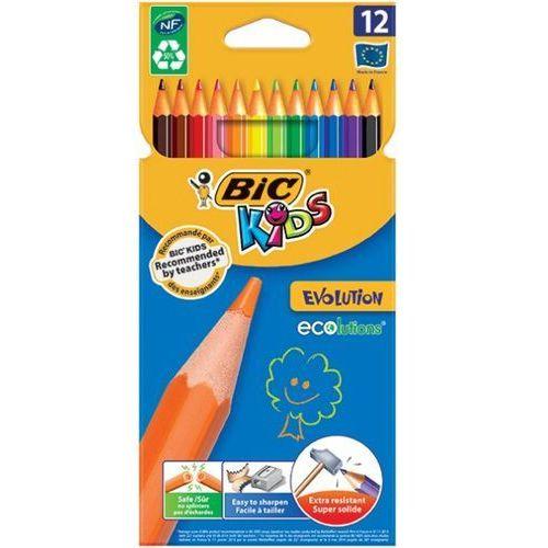 Bic Kredki ołówkowe ecolutions™ evolution™, 12 kolorów - autoryzowana dystrybucja - szybka dostawa
