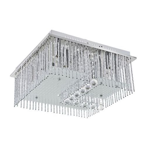 Plafon LAMPA sufitowa 2439 Rabalux szklana OPRAWA kwadratowa LED 3,06W chrom przezroczysta