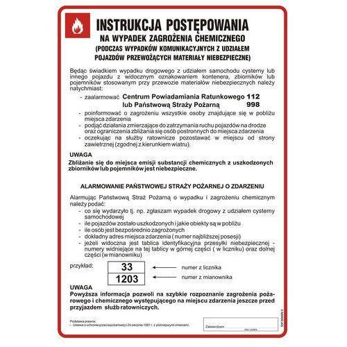 Instrukcja postępowania na wypadek zagrożenia chemicznego marki Top design