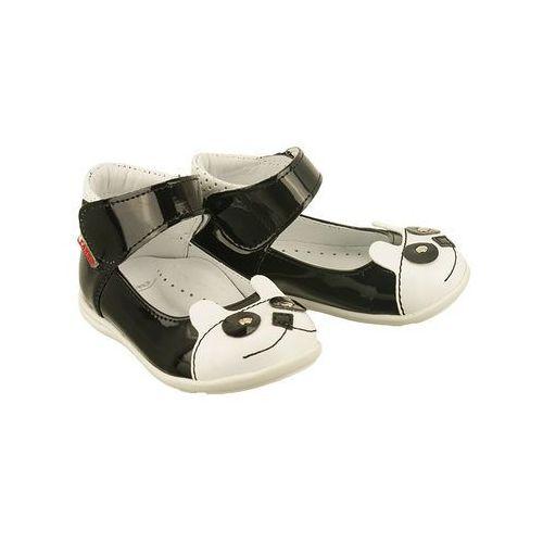 Zarro 84/03 czarno-biały, balerinki trzewiki dziecięce, rozmiary 19-24